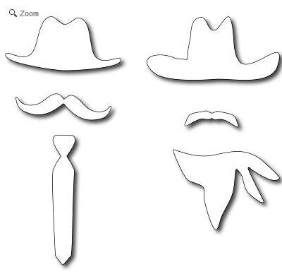 Frantic Stamper - Dies - American Hats & Mustaches