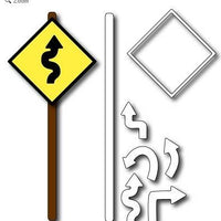 Frantic Stamper - Dies - Road Signs