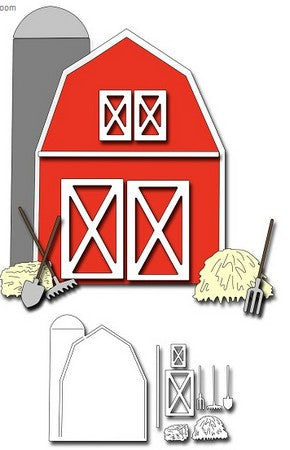 Frantic Stamper - Dies - Barn Card Maker