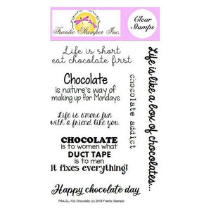 Frantic Stamper Clear Stamp Set - Chocolate (ships July 29)