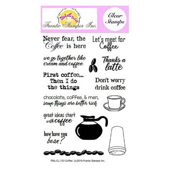 Frantic Stamper Clear Stamp Set - Coffee (ships July 29)