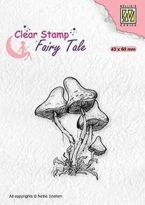 Nellie's Choice - Clear Stamp - Fairy Tale Mushrooms