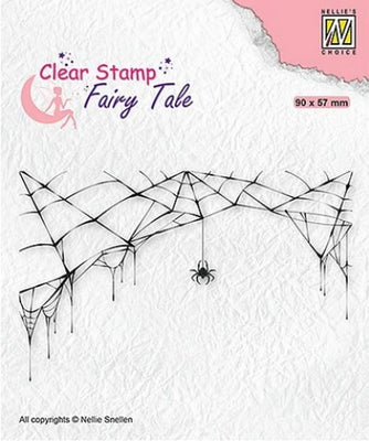 Nellie's Choice - Clear Stamp - Fairy Tale Spider & Web