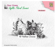 Nellie's Choice Stamps - Idyllic Vase With Roses