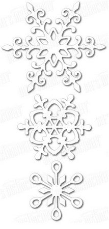 Dee's Distinctively Dies - Snowflake Set 1