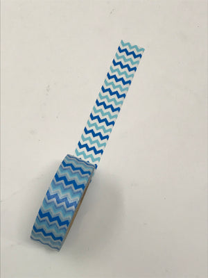 Washi Tape - Blue Zigzag