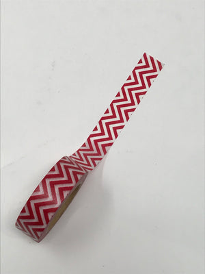 Washi Tape - Red Zigzag