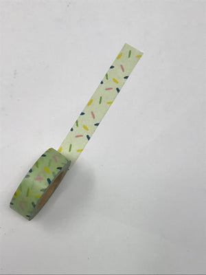 Washi Tape - Green Confetti
