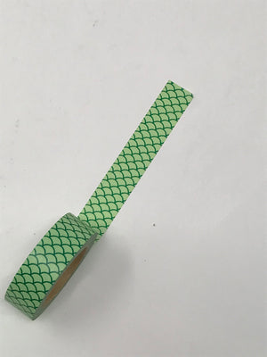 Washi Tape - Green Scales