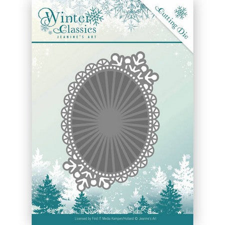 Jeanine's Art - Dies - Winter Classics - Mirror Oval