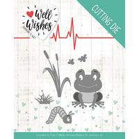 Jeanine's Art - Dies - Well Wishes - Smiling Frog