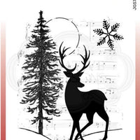 Woodware Craft Collection - Clear Stamps - Musical Deer