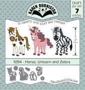 Karen Burniston - Dies - Horse, Unicorn & Zebra