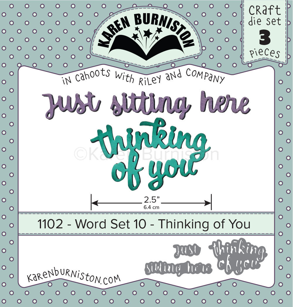 Karen Burniston - Dies - Word Set 10 - Thinking Of You