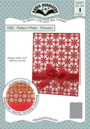 Karen Burniston - Dies - Pattern Plate - Flowers