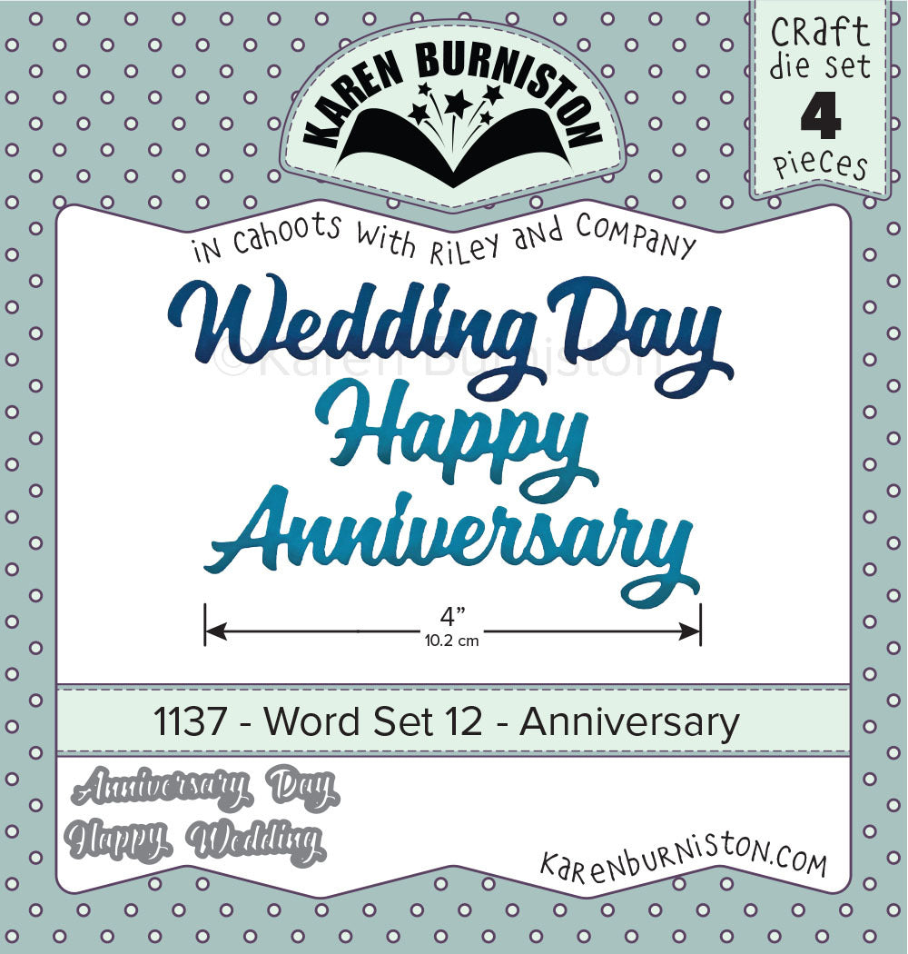 Karen Burniston - Dies - Word Set 12 - Anniversary