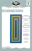Karen Burniston - Dies - Long Rectangles - Crosshatch (Pre-Order. Ships early Nov)