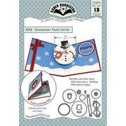 Karen Burniston - Dies - Snowman Twist Circle Pop-Up