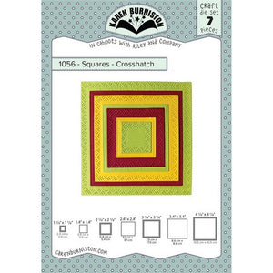 Karen Burniston - Dies - Squares - Crosshatch