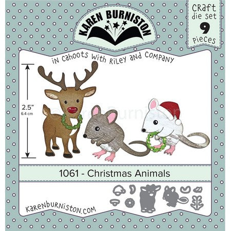 Karen Burniston - Dies - Christmas Animals