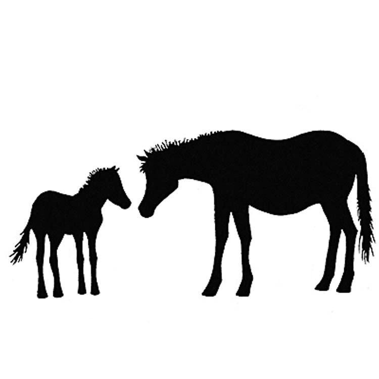 LAV006 - Lavinia Stamps - Horse and Foal