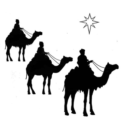 LAV090 - Lavinia Stamp - Three Kings and a Star