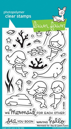 Lawn Fawn - Mermaid For You Stamps