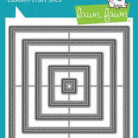 Lawn Fawn - Large Dotted Square Stackables Dies