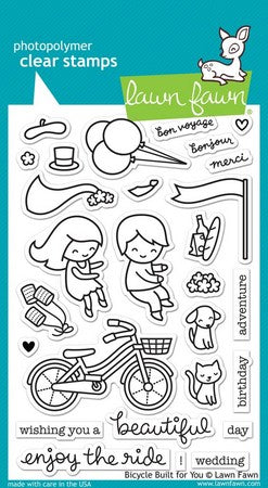 Lawn Fawn - Bicycle Built For You Stamps