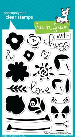 Lawn Fawn - Fab Flowers Stamps