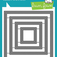 Lawn Fawn - Outside In Stitched Square Stackable Dies
