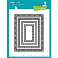 Lawn Fawn - Outside In Stitched Scalloped Rectangle Stackables Dies
