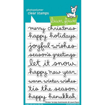 Lawn Fawn - Winter Scripty Sentiments Stamps