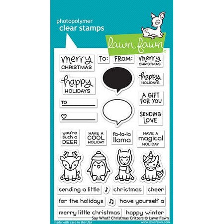 Lawn Fawn - Say What? Christmas Critters Stamps
