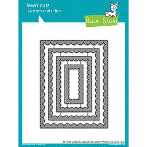 Lawn Fawn - Reverse Stitched Scalloped Rectangle Windows Dies