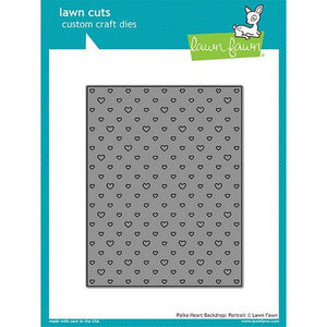 Lawn Fawn - Polka Heart Backdrop Portrait