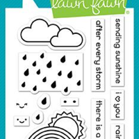Lawn Fawn - Rain Or Shine Before 'n Afters Stamps