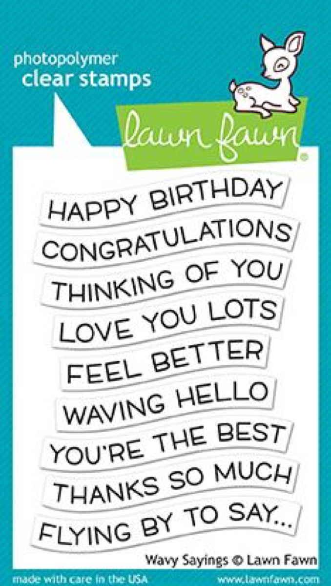 Lawn Fawn - Wavy Sayings Stamps