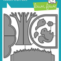 Lawn Fawn - Shadow Box Card Park Add-On Dies