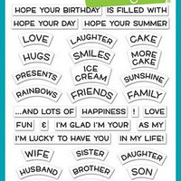 Lawn Fawn - Reveal Wheel Friends & Family Sentiments Stamps