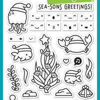 Lawn Fawn - Christmas Fishes Stamps