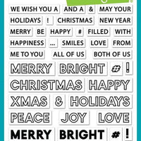 Lawn Fawn - Offset Sayings : Christmas Stamps