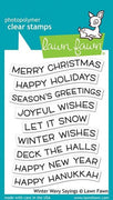 Lawn Fawn - Winter Wavy Sayings Stamps