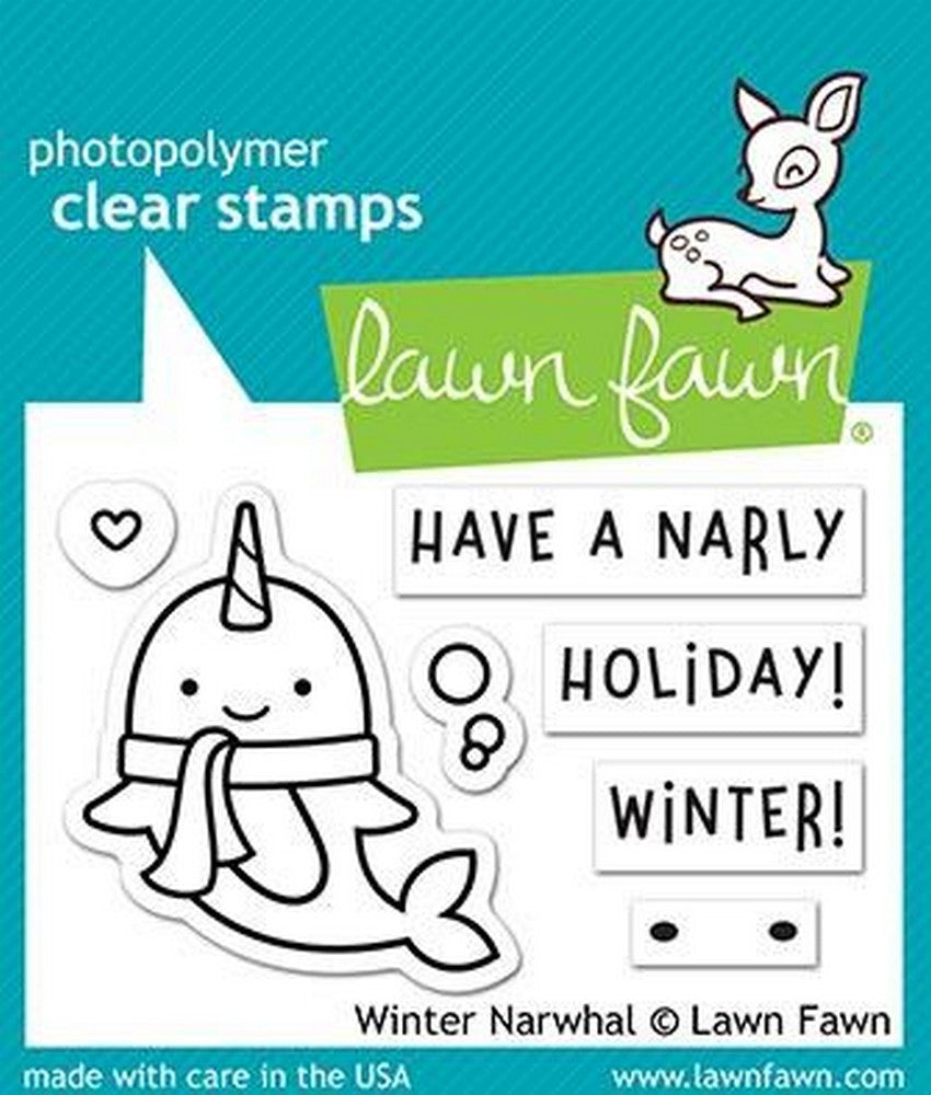 Lawn Fawn - Winter Narwhal Stamps