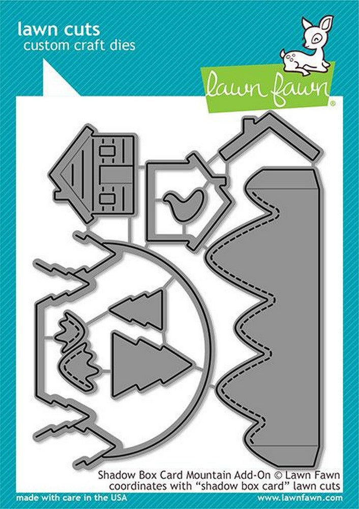 Lawn Fawn - Shadow Box Card Mountain Add-On Dies