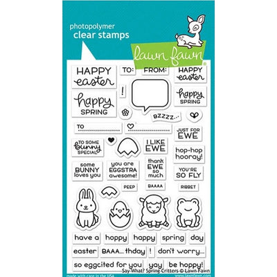 Lawn Fawn - Say What? Spring Critters Stamps