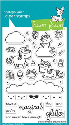 Lawn Fawn - Unicorn Picnic Stamps
