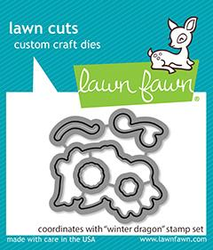 Lawn Fawn - Winter Dragon Dies