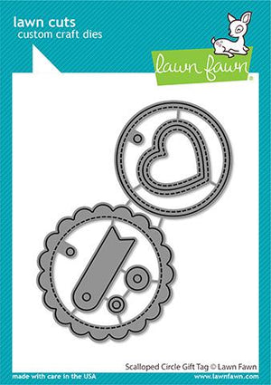 Lawn Fawn - Scalloped Circle Gift Tag Dies