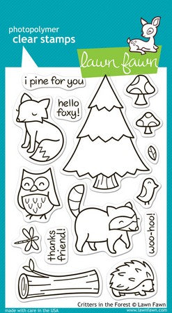 Lawn Fawn - Critters In The Forest Stamps